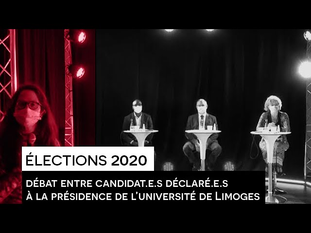 Élections 2020   Débat entre candidat.e.s déclaré.e.s à la présidence de l'université de Limoges