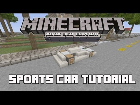 How To Build A Sports Car In Minecraft Xbox