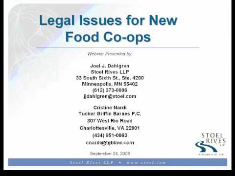 FCI 2008: Legal Issues for New Food Co ops