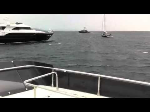 St Tropez super yachts crash