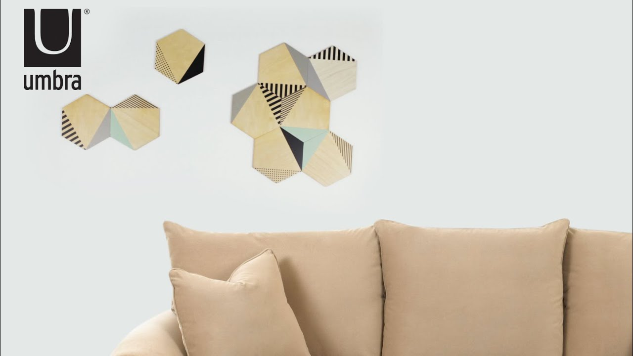 UMBRA Hexy Wall Decor - YouTube