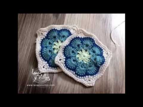 Crochet African Flower Into A Square Tutorial Bella Coco Youtube