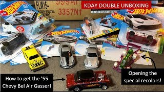 Hot Wheels Unboxing x2 - KDay 2018 & Opening Cars & Gasser Review