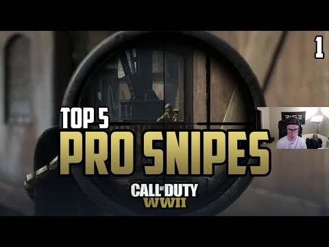 COD WWII: TOP 5 PRO SNIPER PLAYS #1 - Call of Duty World War 2