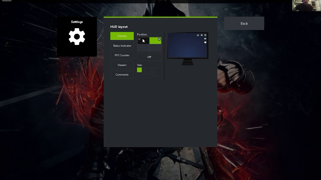 How to Enable your webcam on Geforce Experience