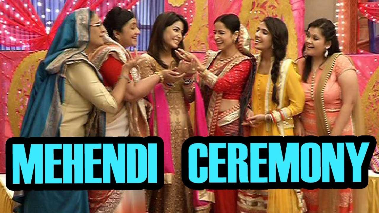 Akshara S Mehendi Ceremony On Yeh Rishta Kya Kehlata Hai Youtube