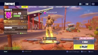 Fortnite week 7 grind for secret skin(Solos)