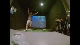 skins game on full swing golf simulator