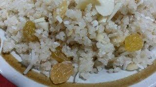 طريقة عمل الكسكسى الحلو How To Make Sweet Couscous