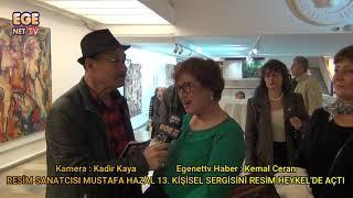 Mustafa Hazal 13. Kişisel Sergisini Resim Heykel sanat Galerisinde açtı