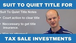 Quiet Title Lawsuits for Tax Sale & Tax Deed Properties