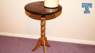 Spiral Column Pedestal Table