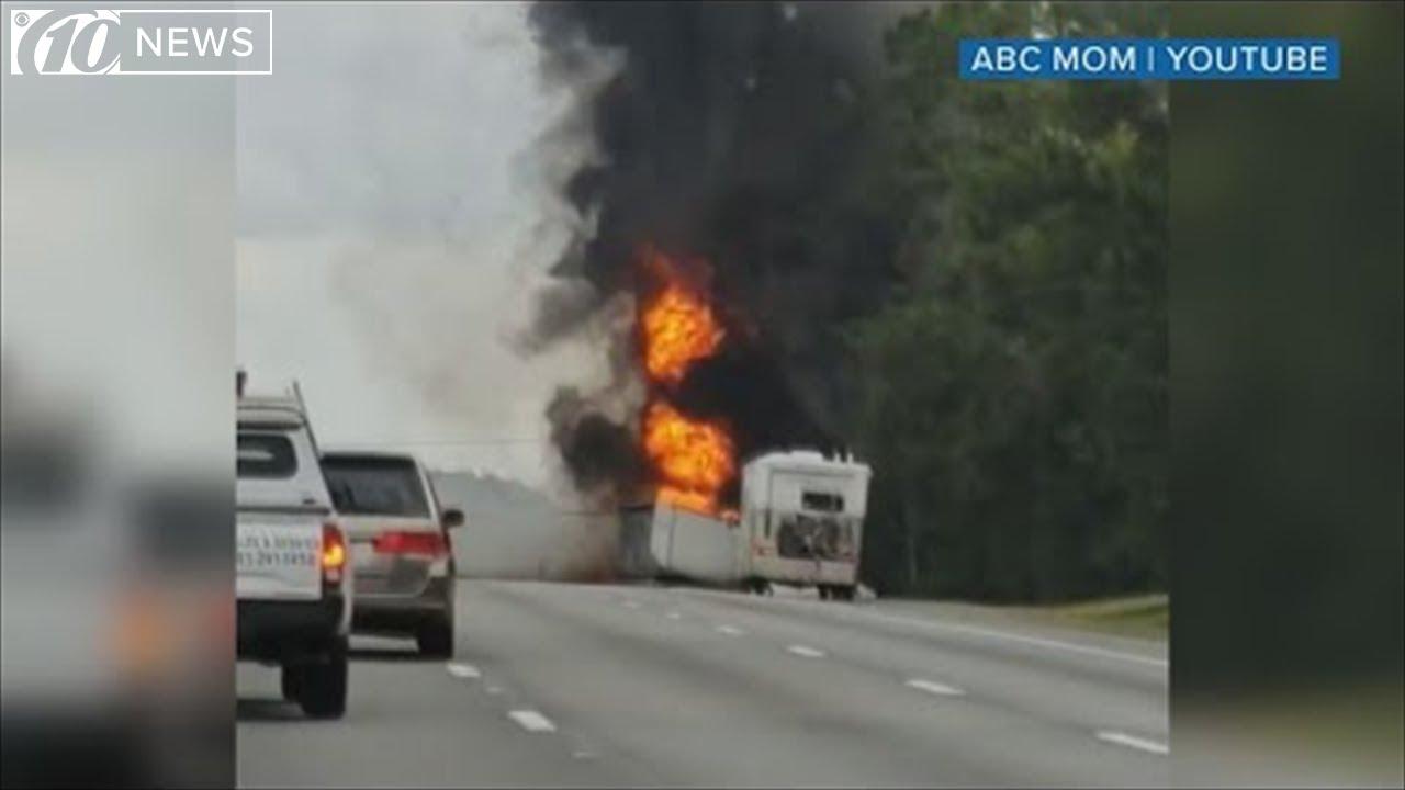 Fiery I-75 crash: Explosions heard on Florida highway near Gainesville