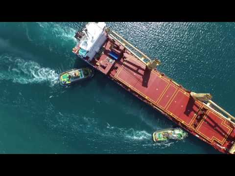 BBC Chartering the first vessel to discharge in new talara´s port - FILMED BY DRONE PERU