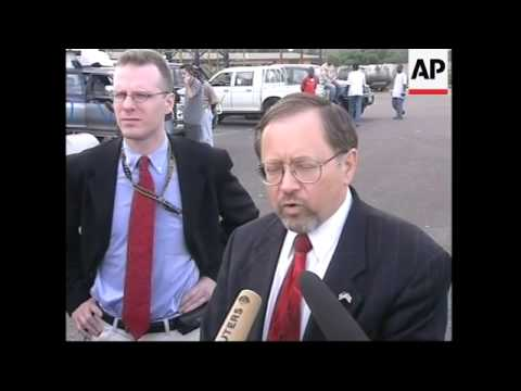 Arrival of US troops, looting, US ambassador, Liberian FM