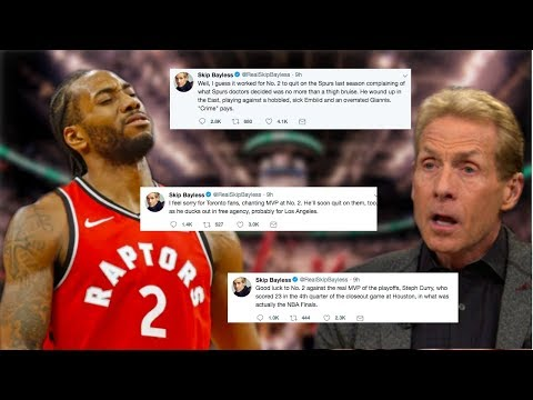 SKIP BAYLESS DISSES KAWHI? Takes Shots On Twitter After Raptors Win