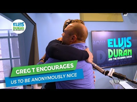 Greg T Encourages Us to Be Nice | Elvis Duran Exclusive