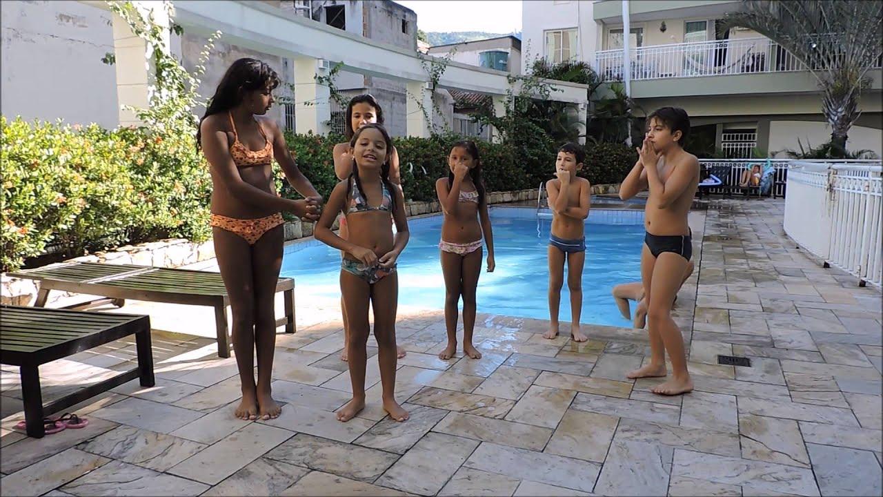 Desafio da piscina com amigos