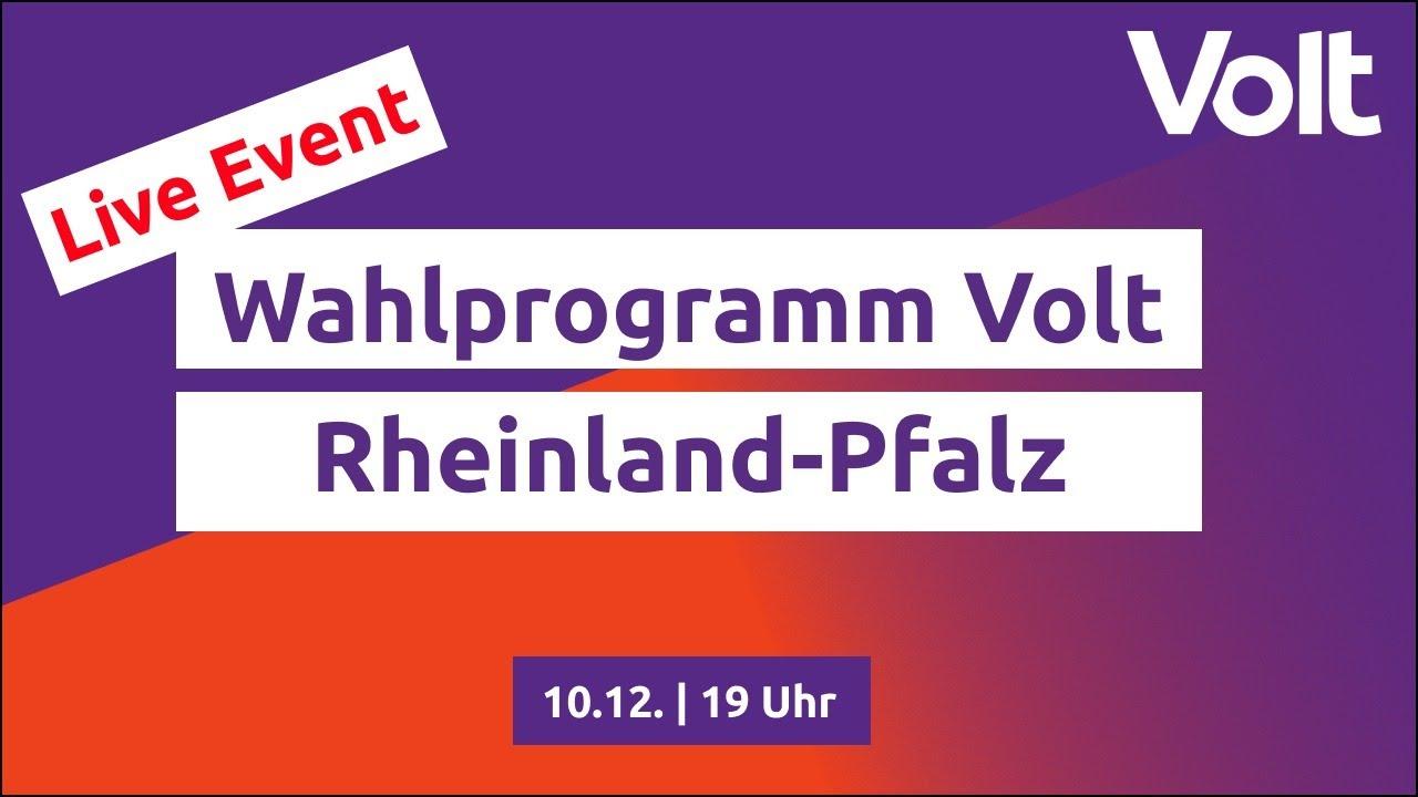 YouTube: Ingelheim Deklaration - Das Landtagswahlprogramm von Volt Rheinland-Pfalz #VoteVolt #LTW21