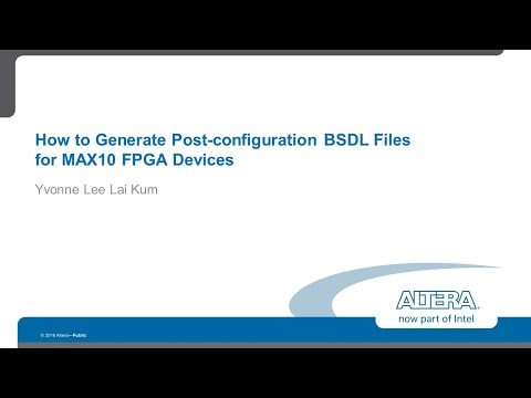 How to generate post configuration BSDL files - YouTube