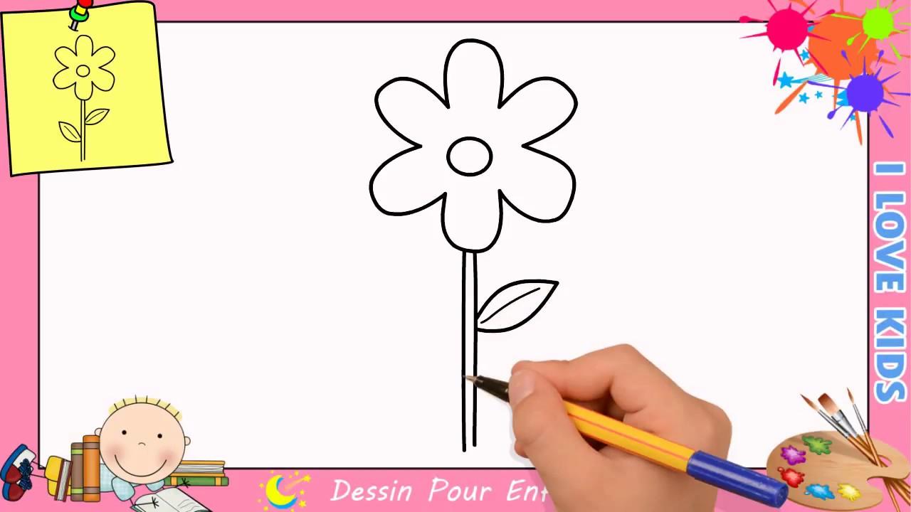 Comment Dessiner Une Fleur Facilement Etape Par Etape Pour Enfants 13 Youtube