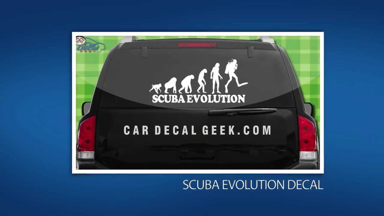 Awesome Scuba Diving Car Window Decals Stickers YouTube - Car window decals near meperforated car window decals signscom