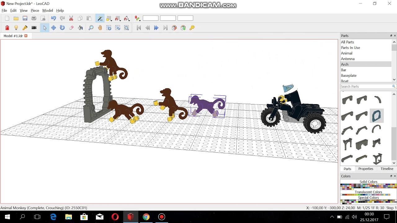 leocad action scene hero dog and monkeys
