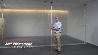 ZipWall Dust Barrier Poles   Single Motion Setup
