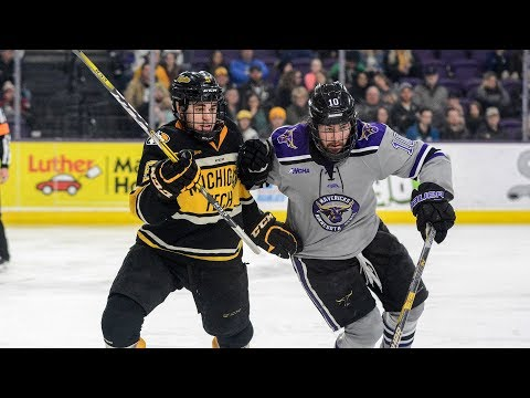 Hockey Highlights - Tech at Minn State - March 11, 2018