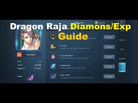Dragon Raja How To Level Up Faster & Get More Diamonds!?