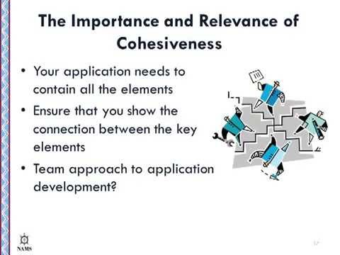 Application Cohesion