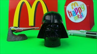 Final 3 STAR WARS McDonalds Kids Happy Meal Toys Inc  Darth Vader and Light Saber