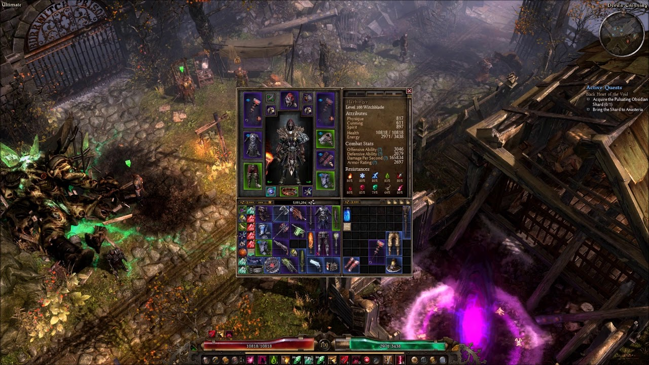 Grim Dawn Witchblade Build - Obsidian 1KK DPS - Самые лучшие видео