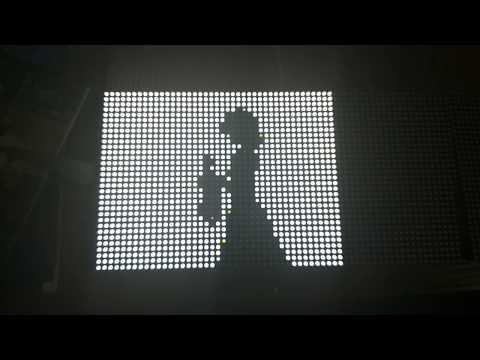 Touhou Bad Apple LED Matrix