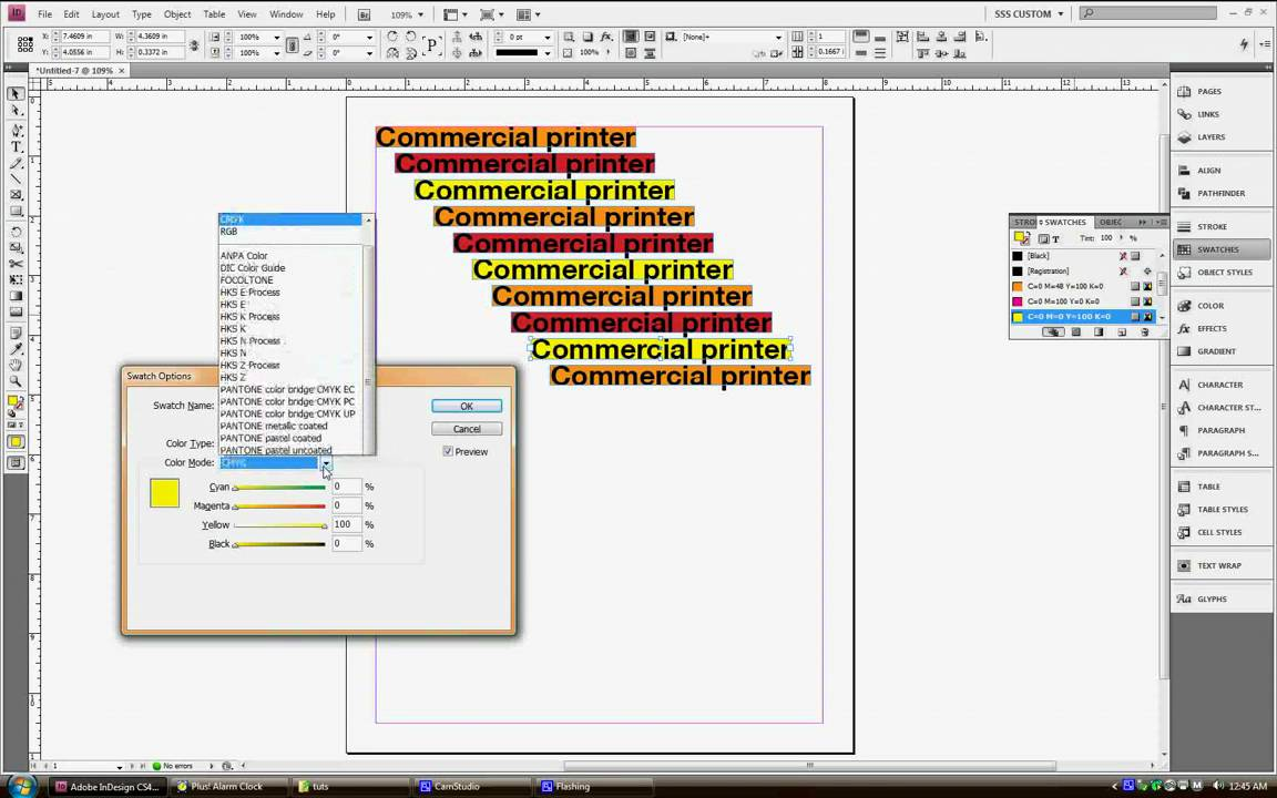 Episode 2 Indesign Cs4 Use Swatches Palette Not Color Palette