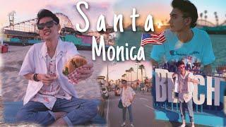 ឆ្នេរសមុទ្រ Santa Monica - #California USA - #LosAngeles - #Downtown #WalkingTour - Travel