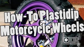 How-To Plastidip Motorcycle Wheels