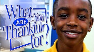 Thanksgiving - Who are you thankful for?