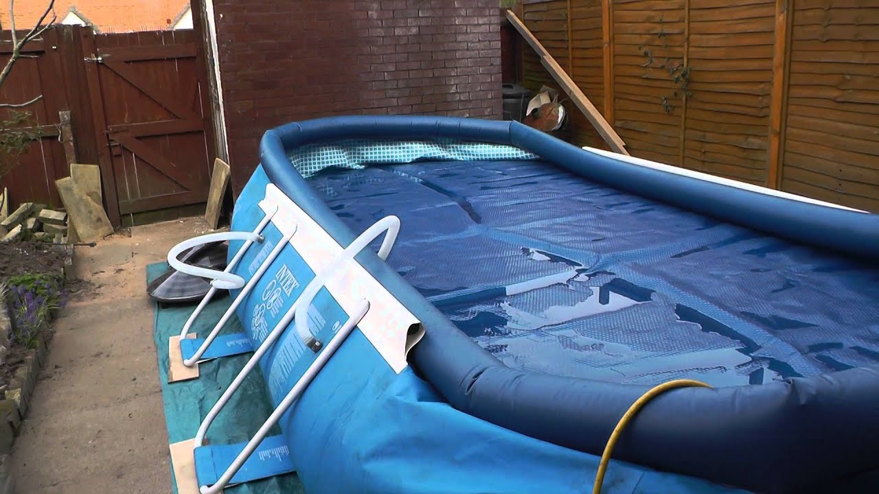 Setting Up Your Intex 18ft X 10ft Oval Pool Filling