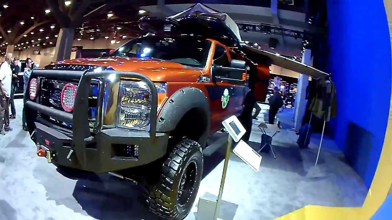 Ford Super Duty >> 2013 Ford F-350 Super Duty CrewCab Expedition Vehicle by EcoTrek 2013 SEMA 11-5-13 - YouTube