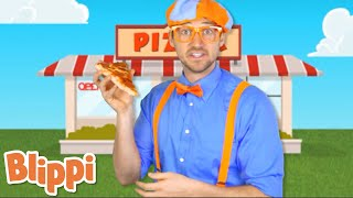 WOW! Pizza Song | Blippi | Sing Along Songs With Blippi | Funny Videos \u0026 Songs