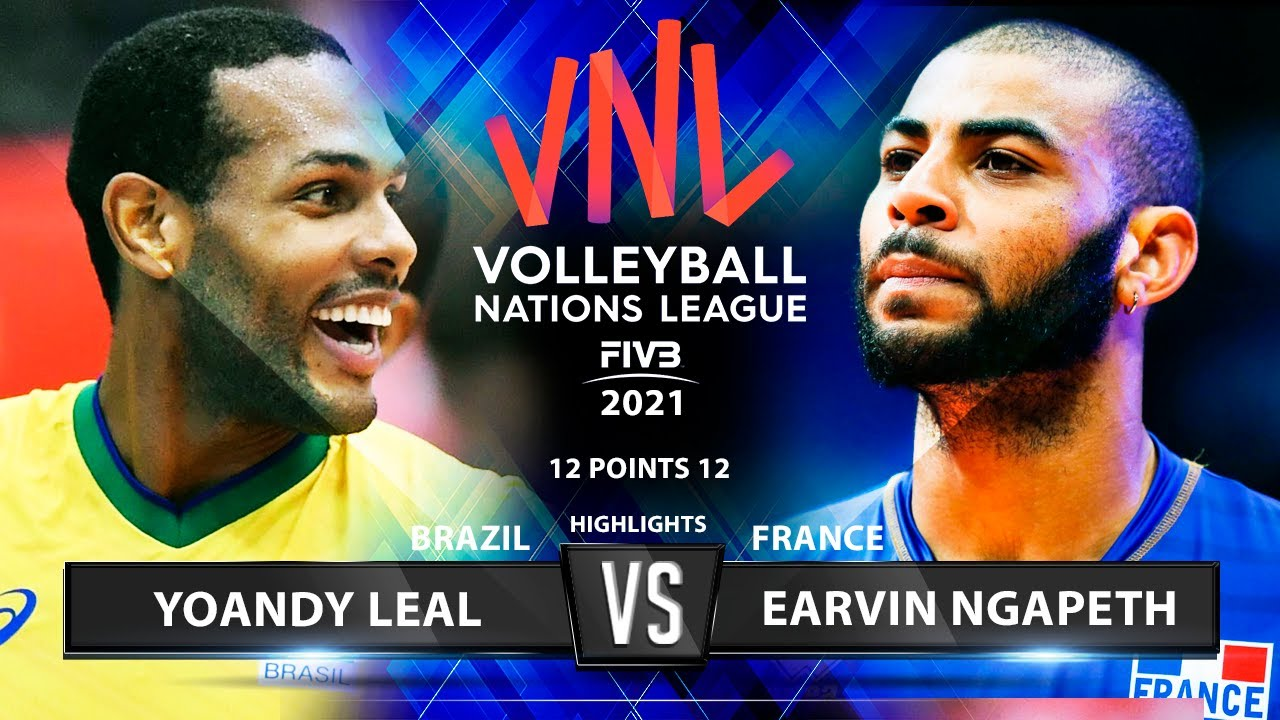 Download Yoandy Leal vs Earvin Ngapeth | Brazil vs France | VNL 2021 | Highlights