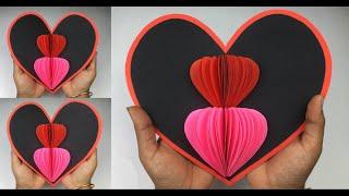 Heart Pop Up Card | Pop Up Card Heart | Pop Up Card | Valentine Cards Handmade Easy | Heart Card