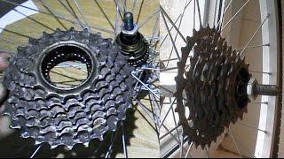 Велосипед задняя звезда трещетка, как разобрать трещетку(Мой ВК https://vk.com/id263241899 Размер шариков в трещотке 3.2мм Полезные видео с моего канала, о ремонте велосипеда...., 2014-11-24T18:06:23.000Z)