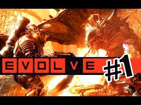 ПРОТИВ И ЗА МОНСТРА! #1 Evolve (1080p) СВЕЖАЧОК играем первыми!
