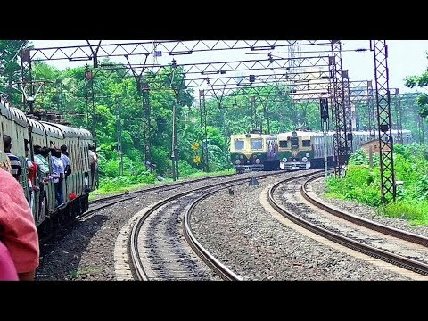 Remarkable Scene : Two Trains on Same Track | Train Running Behind Train  Almost 3 Kms at Same Time