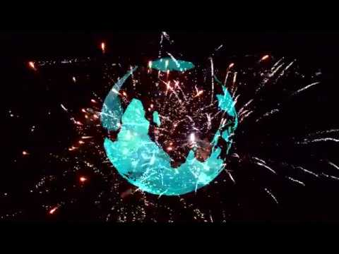 Horizons 2017 Spinning Globe with Fireworks