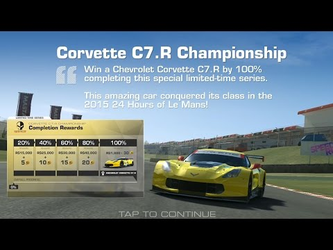 Real Racing 3 Corvette C7.R Championship Tier 1 Gameplay