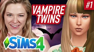 Single Girl Turns Her Twins Into Vampires In The Sims 4 | Part 1