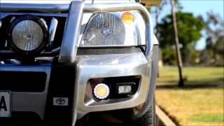 Bullbar LED, DRL lights for OEM bullbar - suits Prado, Hilux, Landcruiser, Navara, Ranger